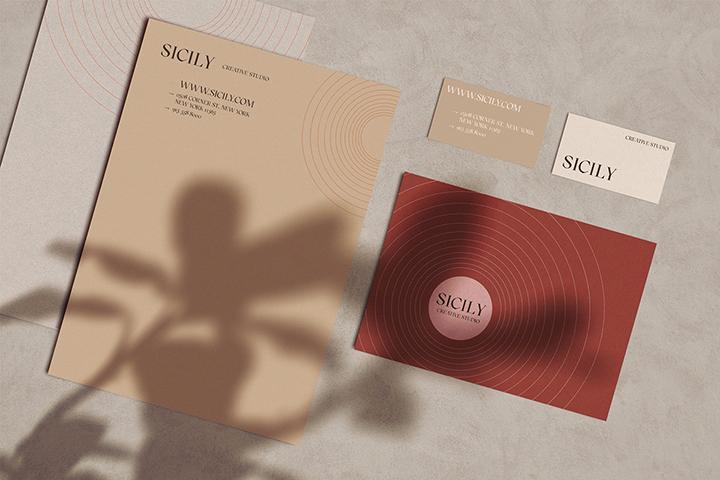 Modern Branding Stationery