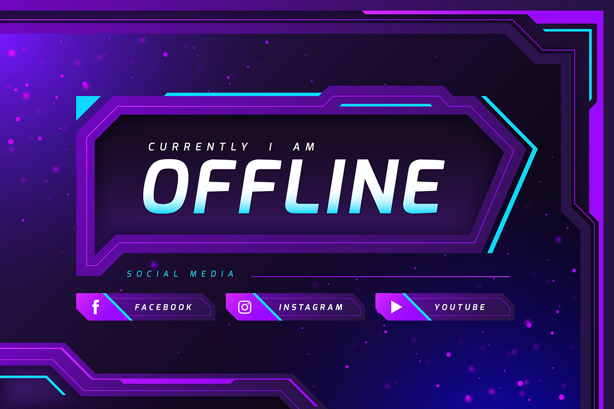 Twitch Background Template Vol.1 – Free Design Resources