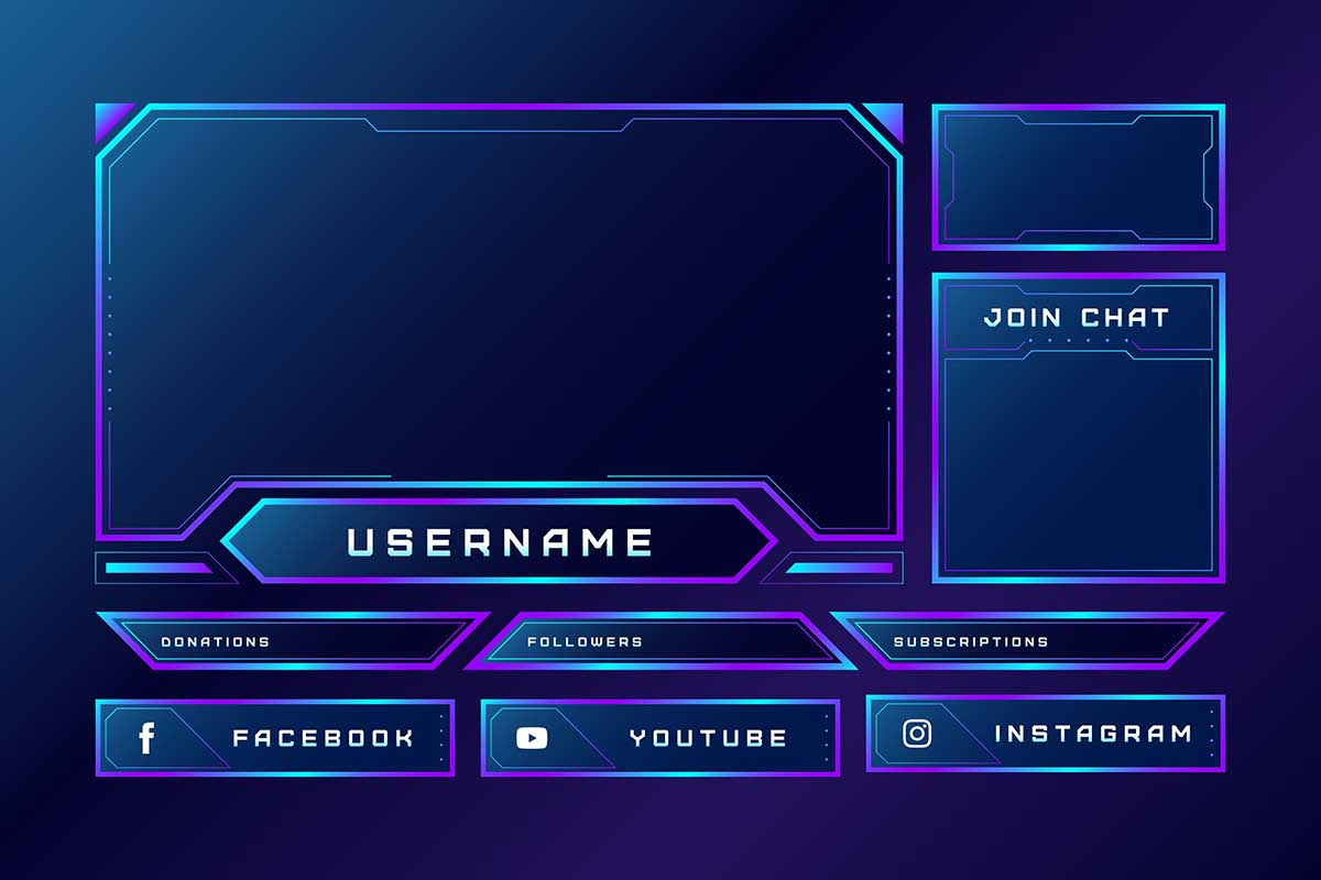 Twitch Background Template Vol.2 – Free Design Resources