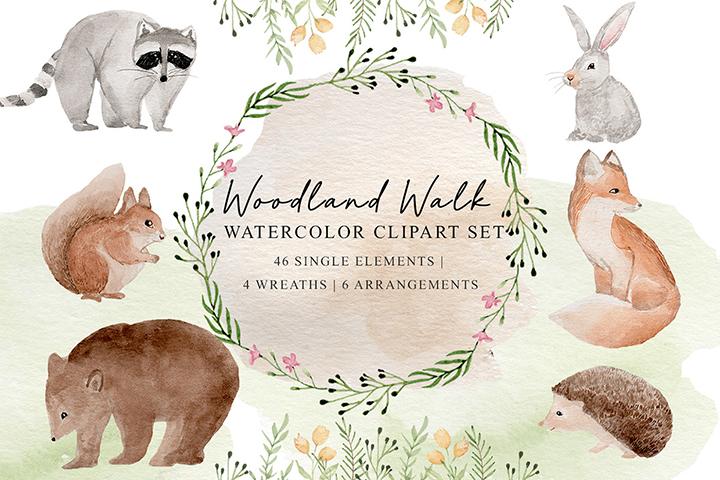 Woodland Walk Watercolor