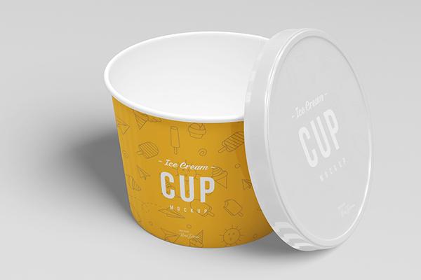 3oz Ice Cream Cup Mockup Set
