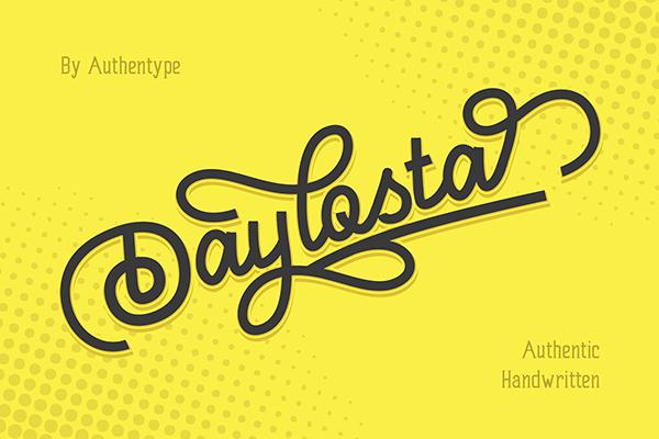 Daylosta Authentic Handwritten Font