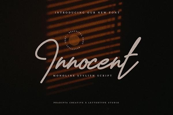 Innocent Monoline Script
