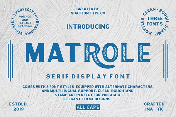 Matrole Serif Display Font